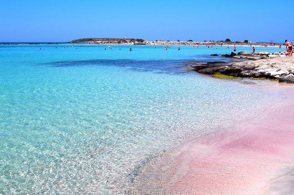 克里特岛粉色沙滩