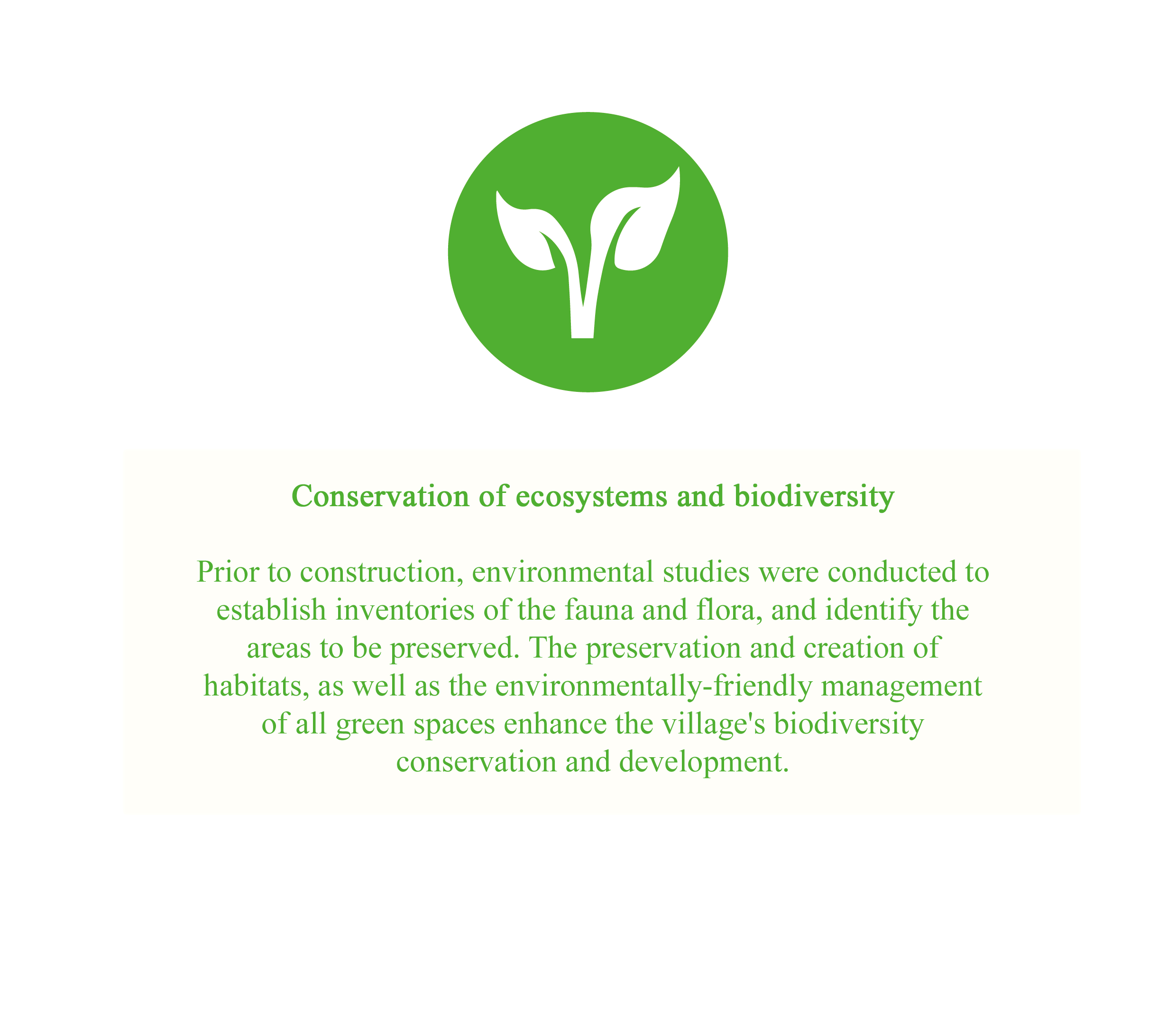 Conservation of ecosystems and biodiversity