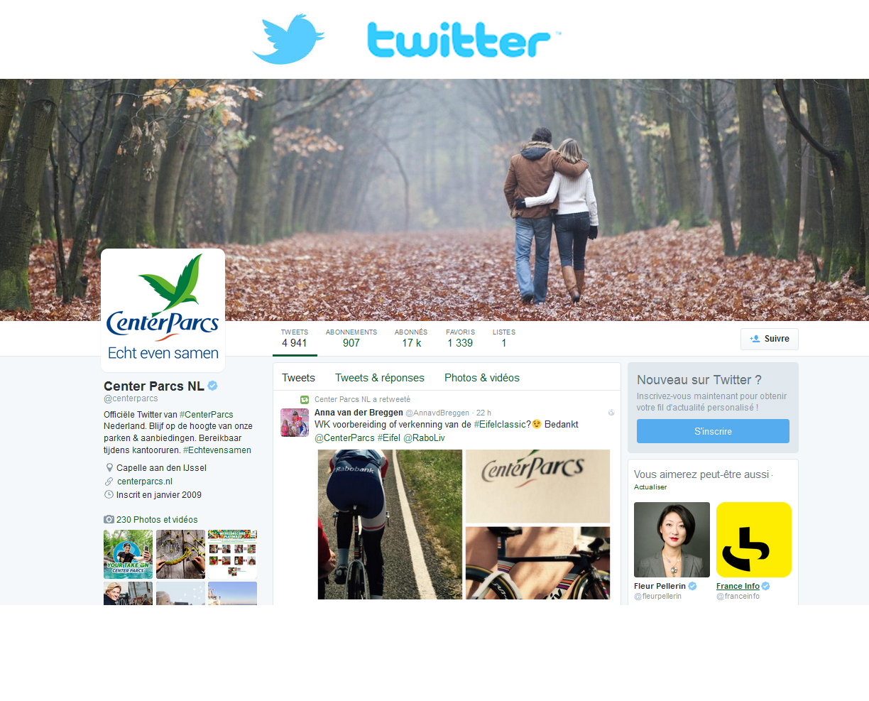 Center Parcs Nederland op Twitter