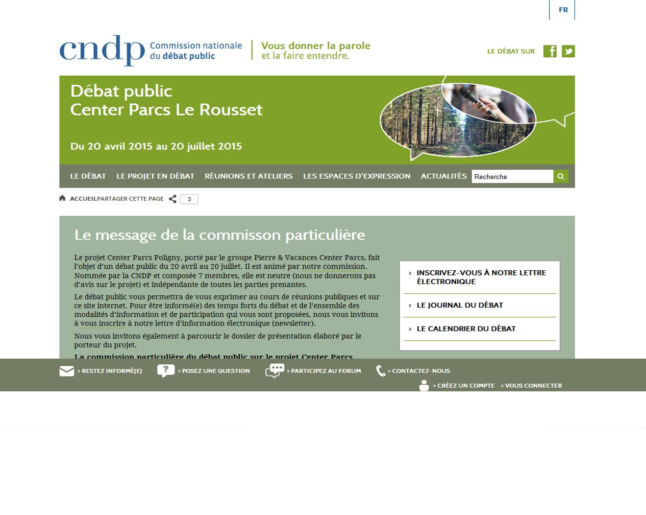 Consulter le site du débat public du projet du Rousset