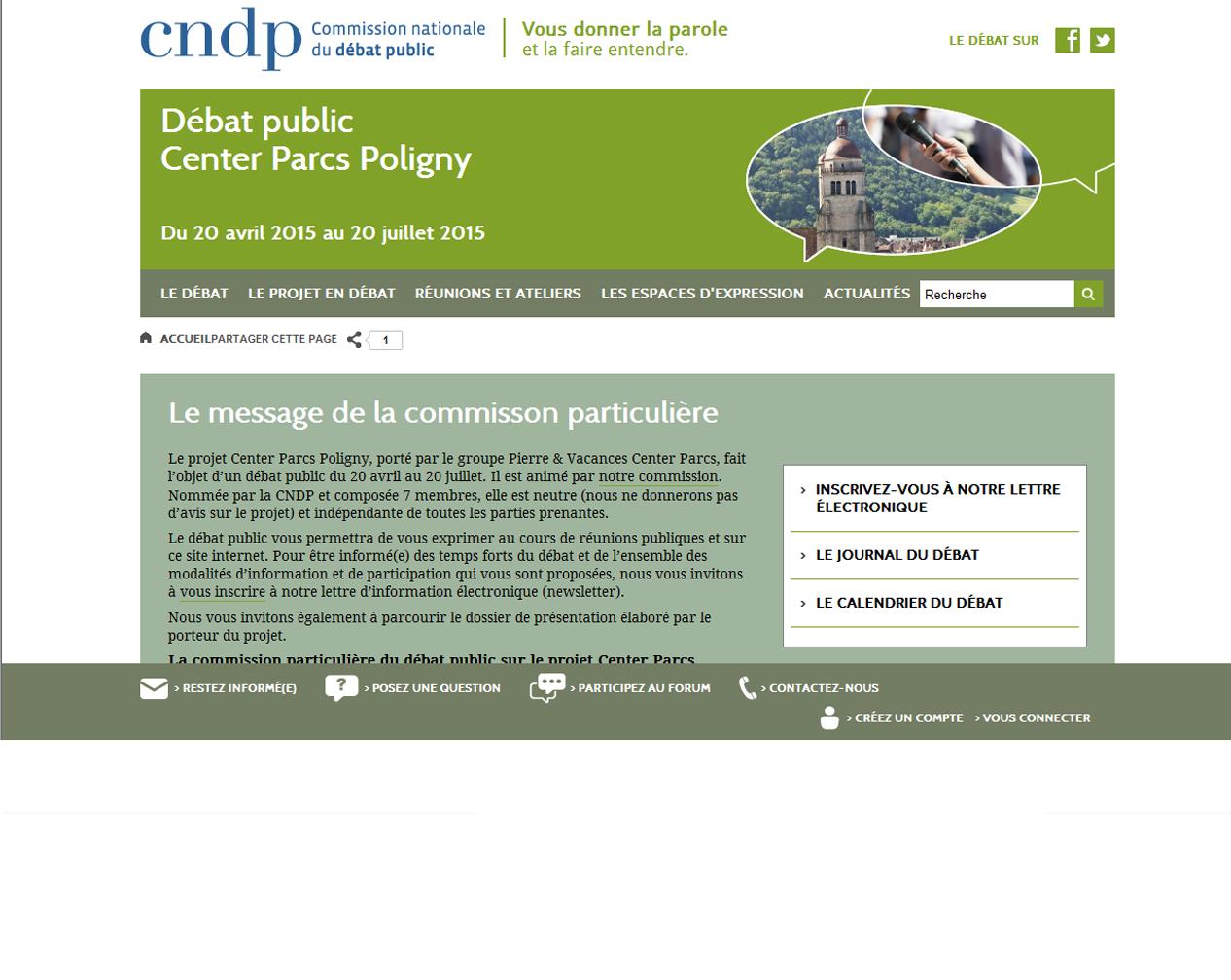 Consulter le site du débat public du projet de Poligny