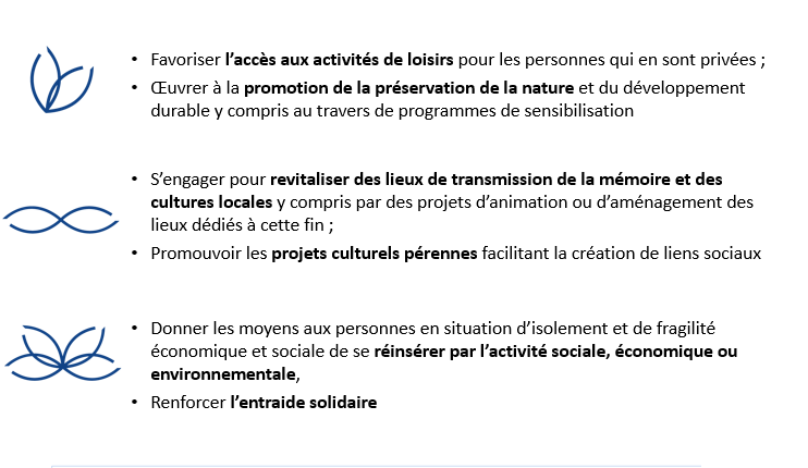 Les trois domaines d'intervention de la Fondation Groupe PVCP