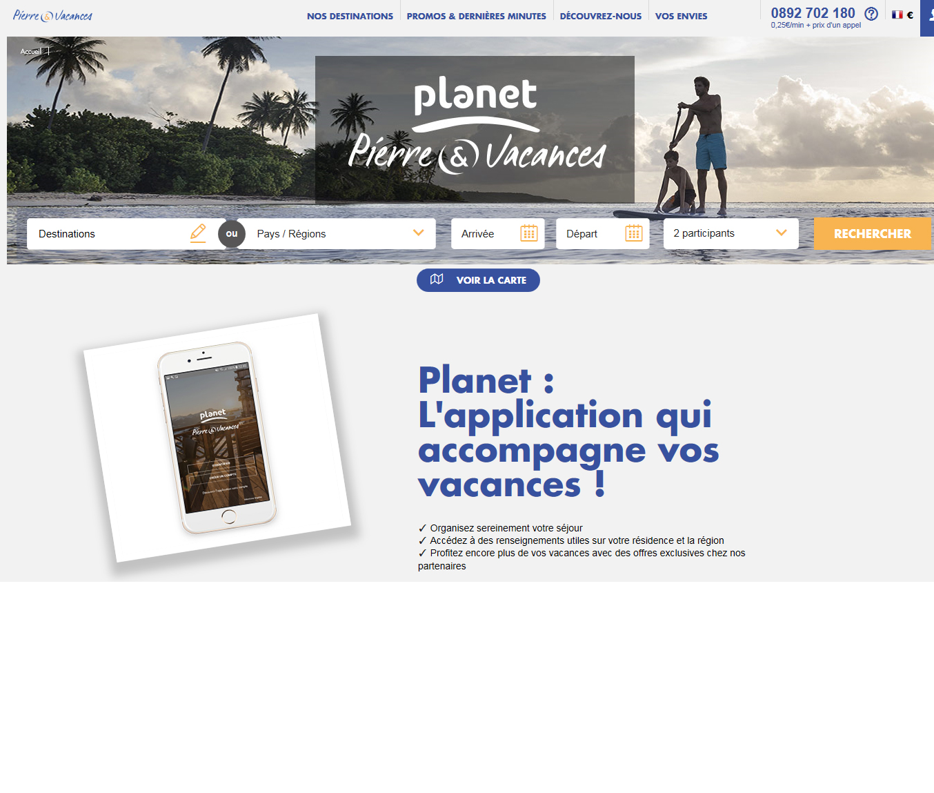 Application Pierre & Vacances