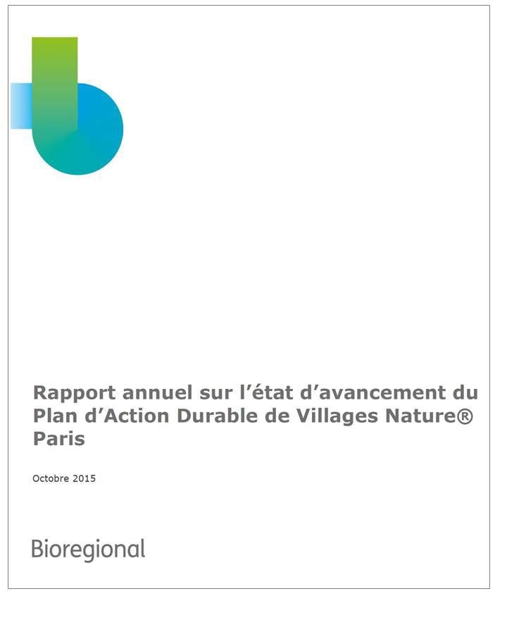 Rapport annuel 2014-2015 Bioregional