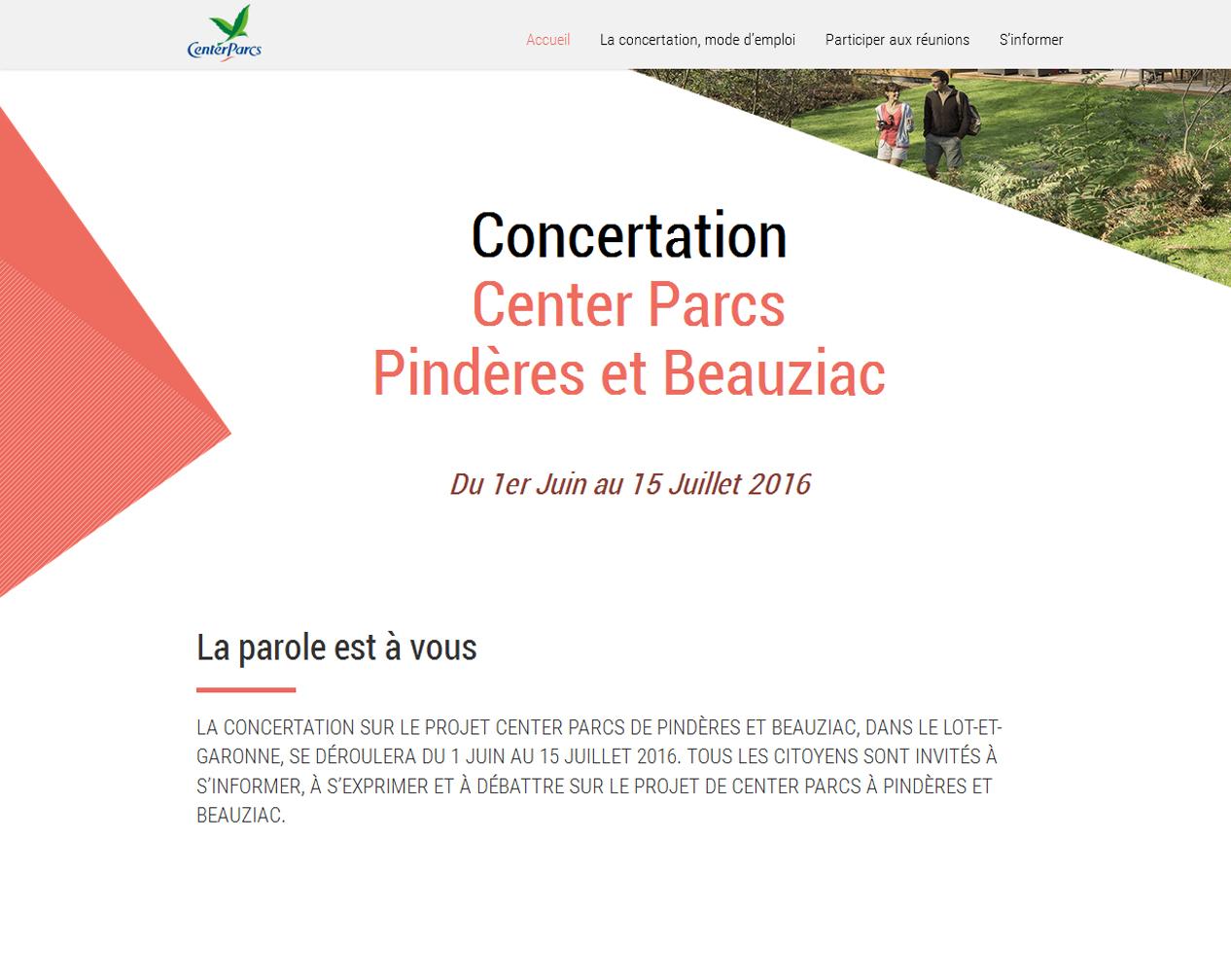 Site web de la concertation
