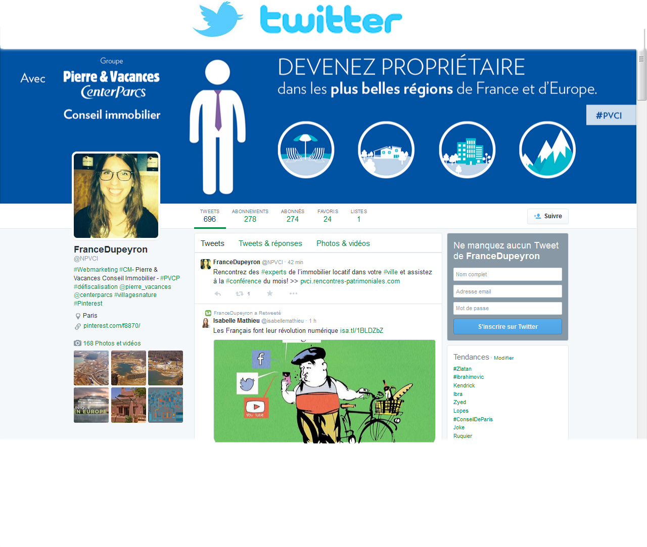 Pierre & Vacances Property Investment op Twitter